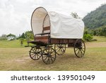 covered wagon with white top in ... | Shutterstock . vector #139501049