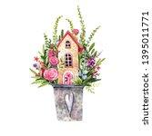 watercolor illustration of... | Shutterstock . vector #1395011771