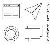set of vector thin line icons....
