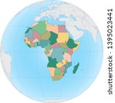 the african continent is...   Shutterstock .eps vector #1395023441
