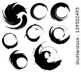 sset of grunge circle brush...   Shutterstock . vector #139502495