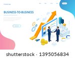 isometric successful business... | Shutterstock .eps vector #1395056834