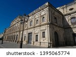 the view of seville town hall ... | Shutterstock . vector #1395065774