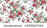 flower print.elegance seampless ... | Shutterstock .eps vector #1395067454