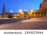 spain square  plaza de espana... | Shutterstock . vector #1395073964