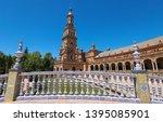 spain square  plaza de espana... | Shutterstock . vector #1395085901