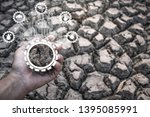 problems that cause drought ... | Shutterstock . vector #1395085991