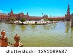 spain square  plaza de espana... | Shutterstock . vector #1395089687