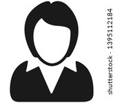 business lady flat vector icon | Shutterstock .eps vector #1395112184