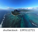 aerial view of tropical island... | Shutterstock . vector #1395112721