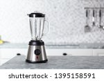 empty electric blender on... | Shutterstock . vector #1395158591