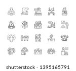 business training line icons ... | Shutterstock .eps vector #1395165791