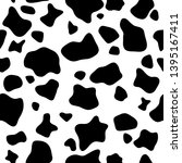 seamless pattern. cow or... | Shutterstock .eps vector #1395167411