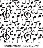 music note background | Shutterstock .eps vector #139517399