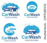 car wash logo template design   Shutterstock .eps vector #1395180131