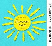 summer sale banner. summer sale ...   Shutterstock .eps vector #1395180494