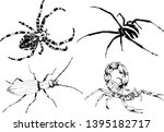 vector drawings sketches... | Shutterstock .eps vector #1395182717