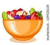a bowl of fruit salad   Shutterstock .eps vector #139520135