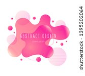 pink abstract liquid shape ... | Shutterstock .eps vector #1395202064