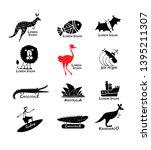 australia icons set  sketch for ... | Shutterstock .eps vector #1395211307