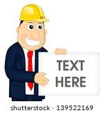 cartoon construction man eps10 | Shutterstock .eps vector #139522169