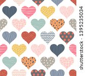 seamless pattern with hearts.... | Shutterstock .eps vector #1395235034