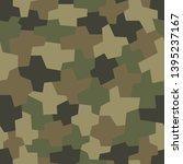 camouflage pattern background... | Shutterstock .eps vector #1395237167