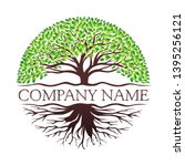 root of the tree logo... | Shutterstock .eps vector #1395256121