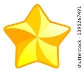 star symbol icon   golden... | Shutterstock .eps vector #1395267491