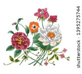 hd floral illustration for... | Shutterstock . vector #1395275744