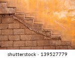 yellow wall detail with visible ... | Shutterstock . vector #139527779