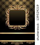 vintage frame on damask... | Shutterstock .eps vector #139529219