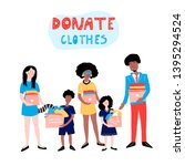 clothes donation. hand drawn... | Shutterstock .eps vector #1395294524