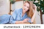 soft studio portrait of a...   Shutterstock . vector #1395298394