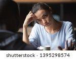 bored unhappy girlfriend... | Shutterstock . vector #1395298574