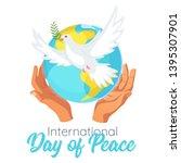 international day of peace... | Shutterstock .eps vector #1395307901