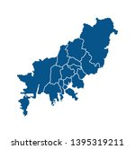 outline map of busan districts   Shutterstock .eps vector #1395319211