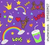 lgbt seamless pattern. rainbow...   Shutterstock .eps vector #1395320927