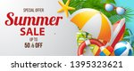 summer sale vector banner... | Shutterstock .eps vector #1395323621