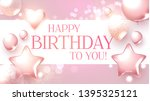 happy birthday congratulations... | Shutterstock .eps vector #1395325121