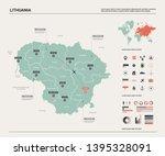 vector map of lithuania. high...   Shutterstock .eps vector #1395328091