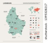 vector map of luxembourg....   Shutterstock .eps vector #1395328217