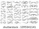 swirl ornament stroke.... | Shutterstock .eps vector #1395341141