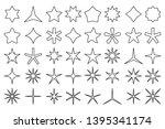 line star icons. outline stars...   Shutterstock .eps vector #1395341174