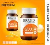 glutathione orange and third... | Shutterstock .eps vector #1395358961