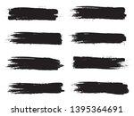 brush stroke set isolated on... | Shutterstock .eps vector #1395364691