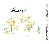 australian landmark acacia tree ... | Shutterstock .eps vector #1395370121