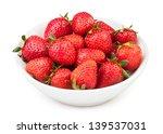 Strawberry Bowl On White...