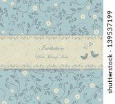 beautiful floral invitation... | Shutterstock .eps vector #139537199