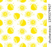 seamless pattern with half... | Shutterstock .eps vector #1395379907